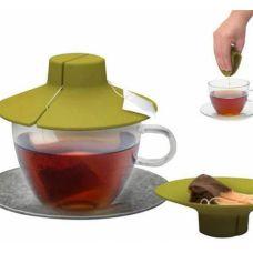 """Силиконовая крышка для заваривания и отжима чайных пакетиков """"Tea Bag Buddy"""""""
