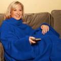 Одеяло - Плед - Халат с рукавами Cuddle Blanket+ (Куддле Бланкет+) цвет синий