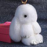"""Брелок """" Меховой кролик"""" 19 см"""