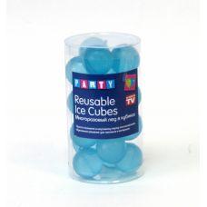 """Лед многоразовый """"REUSABLE ICE CUBES"""" 20 штук цвет голубой"""