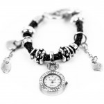 Часы-подвеска с браслетом в стиле PANDORA (черный)