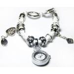 Часы-подвеска с браслетом в стиле PANDORA (белый)
