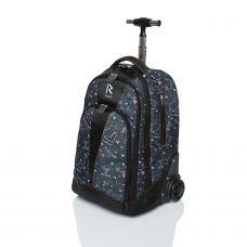 Сумка-рюкзак на колесиках «RUNA» SK8 Серая